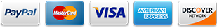 We accept credit and debit cards via PayPal